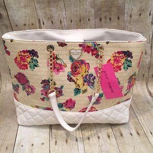 Betsey Johnson floral handbag NWT